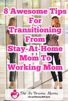 It can be hard transitioning from being a stay at home mom to working full time. Here are 8 awesome tips to help you organize your time, meals, and chores so you have less guilt and more time with your family.