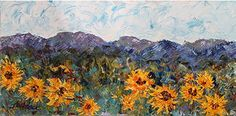 "Contemporary Artists of Colorado: Colorado Landscape Painting ,Sunflower Painting ""Dans de Fleurs ""by Colorado Impressionism Artist Judith Babcock"