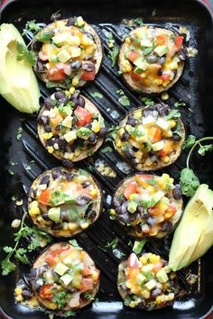 Healthy Recipes Low-Carb Grilled Eggplant Tacos - Grilled Eggplant Tacos topped with a delicious bean corn and tomato salsa, melted cheese, avocado bites and fresh cilantro! Low Carb Recipes, Cooking Recipes, Healthy Recipes, Vegetarian Eggplant Recipes, Grilled Eggplant Recipes, Grilled Recipes, Freezer Recipes, Soup Recipes, Going Vegetarian