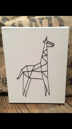 Geometric Giraffe String Art!