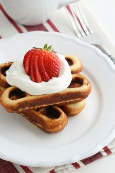 Coconut Flour Grain Free Waffles-boys made these for me for Mother's Day.  Yummy with blueberries and homemade coconut syrup!