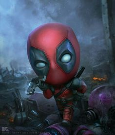 grafika deadpool, Marvel, and wallpaper Marvel Dc Comics, Chibi Marvel, Bd Comics, Marvel Heroes, Marvel Avengers, Avengers Series, Deadpool Wallpaper, Marvel Wallpaper, Dead Pool