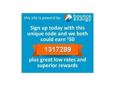 Be Referred to Bounce Energy Texas - get $50 Credit after 3 months