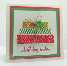 05/08/2015 Song of my Heart Stampers: stack of birthday presents; Stampin' Up! Build A Birthday