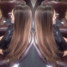 Kelcie has mastered this look! A rooty balayage, ends toned to a smokey chocolate.  #TIGI #Tigicopyrightcolour #color #balayage #teambrunette #blowout #hairpainting #ombre #effortless #olaplex #beauty #longhair #colorist #stylist #style #nycstylist #utahhair #utahstylist #Padgram