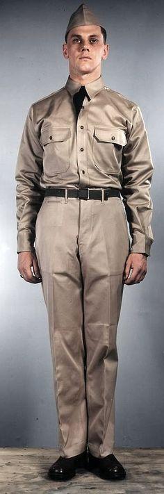 US ARMY ENLISTED MAN SUMMER UNIFORM 1941