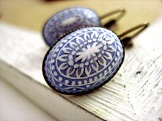 Stilevintage orecchini a bottone - LIGHT BLUE