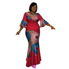 African Clothing Tops-Skirt Sets for Women Print Dashiki Cotton Wax Pr – Afrinspiration African Fashion Skirts, African American Fashion, African Dresses For Women, African Attire, African Wear, African Suits, Ankara Fashion, African Style, Men Fashion