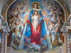 The mother of Lord Jesus, Mother Mary, is a symbol of love and affection. Virgin Mary, being a blessed soul, her pictures are also very popular with the masses. Religious Pictures, Religious Icons, Religious Art, Jesus Pictures, Blessed Mother Mary, Blessed Virgin Mary, Catholic Art, Catholic Saints, Catholic Churches