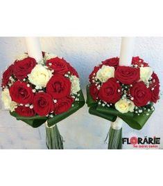 Lumanari cununie trandafiri albi si rosii Terraria, Plant, Terrariums