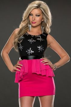 Black Rosy Flowery Rhinestone Slim Peplum Dress US$30.83 Sexy Outfits, Sexy Dresses, Cute Dresses, Fashion Dresses, Peplum Dresses, Velvet Dresses, Coral Dress, Sequin Dress, Celebrity Dresses