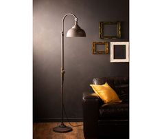 Price: $149.99GBP     Vintage Industrial Style Floor Lamp    Approx 169cm tall and 37cm wide and 27cm deepMade from black metal with a distressed finishAdjustable lamp shade, angle can be adjustedLamp height is non adjustable, height fixed at 169cmRequires bayonet pin LED bulb B22 40w max, #Floorlamp #Industrial #Lampshade #Led #Lightbulb #Metallic #Vintagelighting