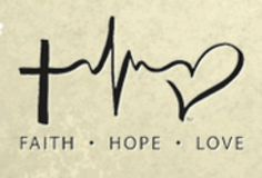 Nursing tattoo: faith, hope, love