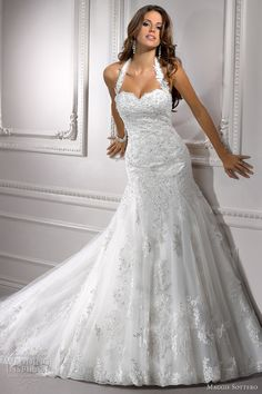 Cheap wedding dress mermaid beaded, Buy Quality lace wedding dresses mermaid directly from China lace wedding dress Suppliers: Halter Lace Wedding Dress Mermaid Beaded Weeding Bridal Bride Gowns vestido de noiva casamento robe de mariage mariee brautkleid Wedding Dress 2013, Lace Wedding Dress, Maggie Sottero Wedding Dresses, Sweetheart Wedding Dress, White Wedding Dresses, Wedding Dress Styles, Mermaid Wedding, Bridal Dresses, Tulle Wedding