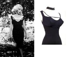 Marilyn Monroe Black Misfits Dress and by Morningstar84 on Etsy