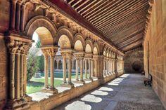 Concatedral de San Pedro, Soria - Vista del Claustro románico de la antigua Colegiata