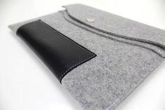 ipad AIR black leather case ipad sleeve ipad by WillowandCompany, $56.00