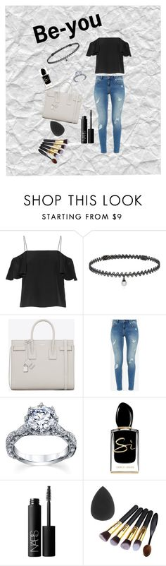 """Be-you"" by fcfashion ❤ liked on Polyvore featuring Fendi, BERRICLE, Yves Saint Laurent, Ted Baker, Giorgio Armani and NARS Cosmetics"