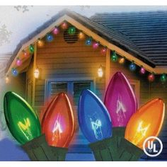 "Vickerman 25 Lights C9 Multicolored Transparent End Connecting Set with 12-Inch Spacing and 25-Feet Length  25 Light C9 Multicolored #Transparent #End-to-End #Connector #Set, Red, Blue, Green, Yellow, Purple. 12 Spacing, 25' Long. "" Features : End-to-End Connections *Set of 25 Replacement Bulbs *UL listed for indoor and outdoor use  Color : Multicolored Size : Small"