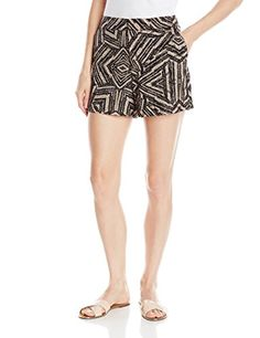 Calvin Klein Women's Printed Woven Short High-waisted short featuring side pockets and zip fly with tab closure Casual Pants, Casual Dresses, Short Dresses, Women's Shorts, High Waisted Shorts, Shorts Outfits Women, Bustiers, Corsets, Image Link