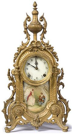 New Haven, Courting Couple Insert, Ormolu, 16 inch Antique Mantel Clocks, Eames, French Clock, Classic Clocks, Clock Shop, Retro Clock, Wall Clock Online, Cool Clocks, Grandfather Clock