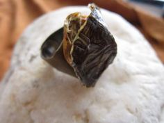 Real TURTLE SHELL Ring Adjustable Biker Chic Boho Burning Man by rainbownativetraders on Etsy