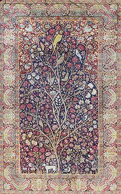 Carpets Auction - LAVER KIRMAN, TREE OF LIFE - PERSIAN