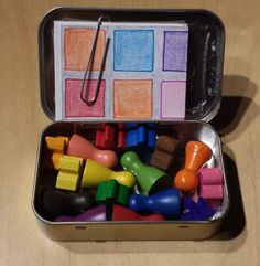 100 games in an altoids tin. | BoardGameGeek 100 Games, Games For Kids, Diy For Kids, Crafts For Kids, Mint Tins, Altoids Tins, Altered Tins, Operation Christmas Child, Pocket Game