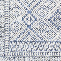 Paulie Geometric Tribal Area Rug - x - Denim Blue And White Rug, Blue And White Living Room, Room Carpet, Rugs On Carpet, Carpets, White Area Rug, Beige Area Rugs, Room Rugs, Rugs In Living Room