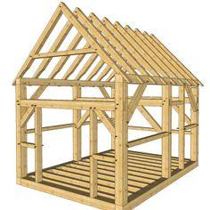 12x16 Post and Beam Cabin - Timber Frame HQ - http://timberframehq.com/shop/12x16-post-and-beam-cabin/?utm_content=bufferef4b4&utm_medium=social&utm_source=pinterest.com&utm_campaign=buffer