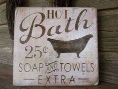 This primitive, rustic, country kitchen sign, is a great look for your primitive… #Bathroomhumor #countrykitchens