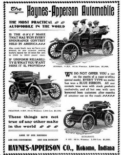 1902 Haynes-Apperson Annonce