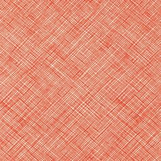 Sew Modern : Carolyn Friedlander - Architextures - Crosshatch - Tangerine