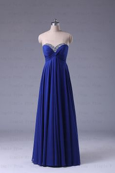 New Arrival A-line Sweetheart Floor-length Sleeveless Chiffon Prom Dress Bridesmaid Dress Formal Evening Dress Party Dreses With Sequins