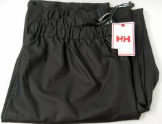 New Helly Hanson Pants Ski Waterproof XL Black Snowboard Sail Winter Snow Rain #HellyHansen