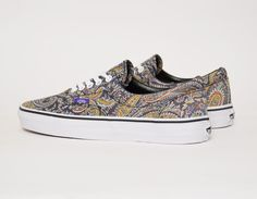 6145d5a973 #Vans Era #Liberty Gray Paisley #sneakers Grey Vans, Vans Off The Wall