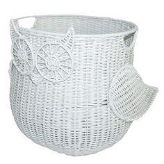Circo, Owl Rattan Storage Basket, White - Target
