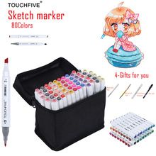 TOUCHFIVE 80 Colors Drawing Marker Pen Animation Sketch Markers Set For Artist Manga Graphic Alcohol Based Marker Brush supplies