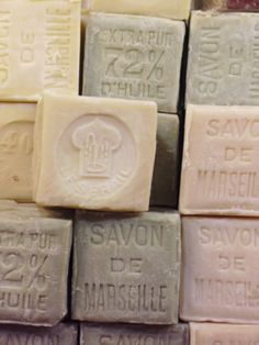 Savon de Marseille...we went to the store that sells these famous soaps