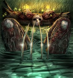 Friday the 13th Jason and Freddy  lake bath colors by DougSQ.deviantart.com on @DeviantArt