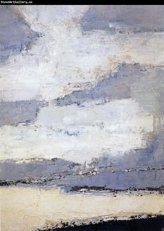 The Sea and Cloud Nicolas de Stael Wholesale China Oil Painting Frame Abstract Landscape Painting, Landscape Art, Landscape Paintings, Abstract Art, Tachisme, Oil Painting Frames, Art Abstrait, Art Graphique, Land Scape