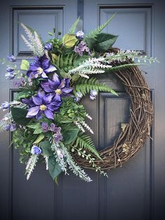 Purple Spring Wreaths Purple Door Wreaths Spring Wreath