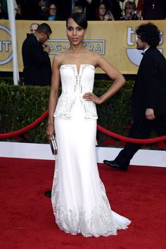 Check out the best red carpet looks from the 2013 SAG Awards!  Kerry Washington in Rodarte
