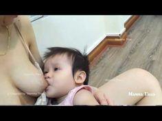 BREASTFEEDING , Thailand Beautiful Mom Enjoying Breastfeeding Time