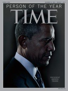 US President Barack Obama has been named TIME's 2012 Person of the Year. (via Time.com)