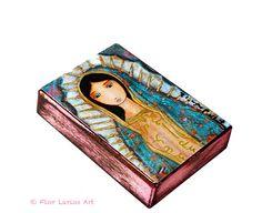 Virgen de Guadalupe en rosa  impresión de Giclee de por FlorLarios, $10.00