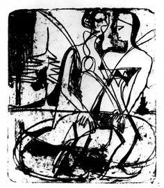 SCHLITTSCHUHLÄUFER - Ernst Ludwig Kirchner