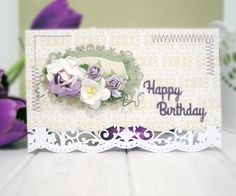 Sentiments One, Spellbinders, S2-082, A2 Scalloped Borders Three, Spellbinders, S5-214