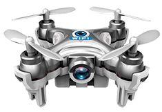 GoolRC Cheerson CX-10W 2.4G 6 ejes Gyro 0.3MP Cámara Wifi FPV RTF Mini Drone…
