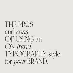 A hot topic during most brand consultations with my clients revolves around the pros and cons of using an on trend typeface.   What… Hot Topic, Branding Design, Lord, Typography, Graphic Design, Website, Type, Modern, Letterpress